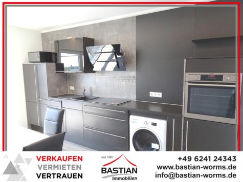 Cooles Apartment mit mega Aussicht: klimatisiert – stilvoll renoviert – schick möbliert! Innenstadt!, 67547 Worms, Etagenwohnung