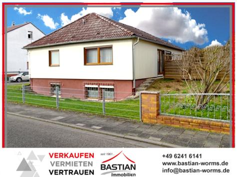 Dann halt eben…Bungalow: ca. 148 m² Wfl. – ca. 572 m² Grst. – Garten – Garage/Carport – Pfeddersheim, 67551 Worms / Pfeddersheim, Bungalow