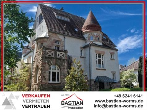 Der Luxus des Besonderen! Perfekt sanierte Villa im Darmstädter Jugendstil, Bestlage Musikerviertel, 67549 Worms, Einfamilienhaus